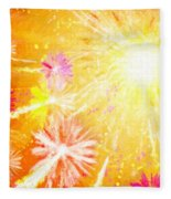 Beautiful Fireworks Fleece Blanket