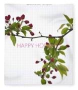 Beautiful Floral Greetings Fleece Blanket
