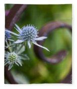 Beautiful Flower Buds Fleece Blanket