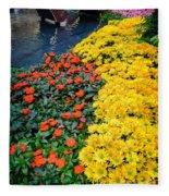 Beautiful Flower Garden Bellagio Las Vegas Fleece Blanket