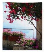 Beautiful Flowers Of Ravello Italy Fleece Blanket