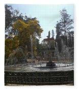 Beautiful Fountain In Lal Bagh Fleece Blanket