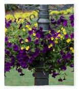Beautiful Hanging Flowers Fleece Blanket