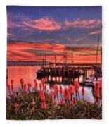 Beautiful Harbor Fleece Blanket