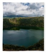 Beautiful Lake Guatavita Fleece Blanket