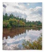 Beautiful Lake Reflections Fleece Blanket