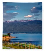 Beautiful Lake View Fleece Blanket