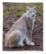 Beautiful Lynx Fleece Blanket