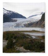 Beautiful Mendenhall Glacier Fleece Blanket