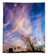 Beautiful Morning Sunrise Clouds Across The Sky Fleece Blanket
