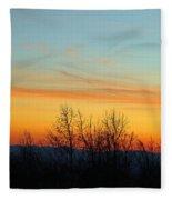 Beautiful Mountain Sunset Fleece Blanket