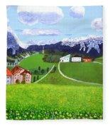 Beautiful Norway Fleece Blanket