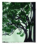 Beautiful Oak Trees Fleece Blanket