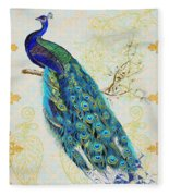 Beautiful Peacock-b Fleece Blanket