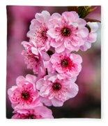Beautiful Pink Blossoms Fleece Blanket