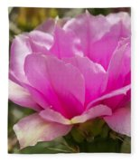 Beautiful Pink Cactus Flower Fleece Blanket