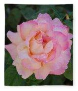 Beautiful Pink Rose Fleece Blanket