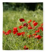 Beautiful Poppies 1 Fleece Blanket