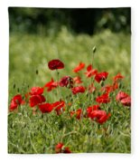 Beautiful Poppies 3 Fleece Blanket
