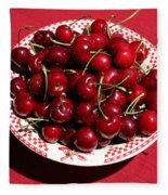 Beautiful Prosser Cherries Fleece Blanket