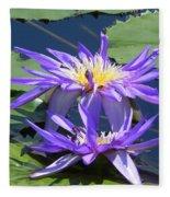 Beautiful Purple Lilies Fleece Blanket