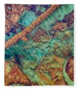 Beautiful Rebar Hot Springs Fleece Blanket
