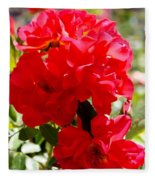 Beautiful Red Roses Fleece Blanket