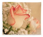 Beautiful Rose Fleece Blanket