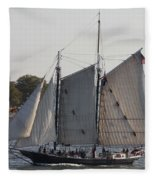 Beautiful Sailboat In Manhattan Harbor Fleece Blanket