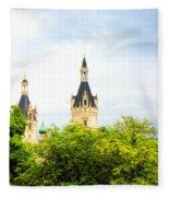 Beautiful Schwerin Castle Fleece Blanket