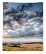 Beautiful Skies Over Farmland Fleece Blanket