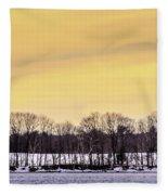 Beautiful Sky Just Before Sunset Fleece Blanket