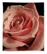 Beautiful Peach Rose Fleece Blanket