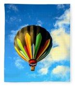 Beautiful Stripped Hot Air Balloon Fleece Blanket