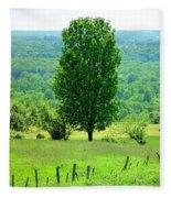 Beautiful Pennsylvania Summer Scene - Colorful Landscape - Painting Like Fleece Blanket