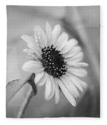Beautiful Sunflower In Monocrome Fleece Blanket