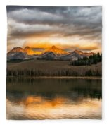 Beautiful Sunrise On Little Redfish Lake Fleece Blanket