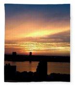 Beautiful New York City Sunset - Upper West Side Fleece Blanket
