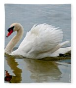 Beautiful Swan Fleece Blanket