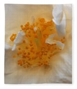 Beautiful White Rose Fleece Blanket