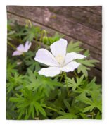 Beautiful Wild Geranium Fleece Blanket
