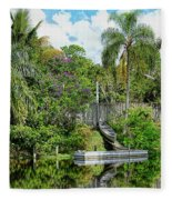 Beautiful Winter Day In Florida  Fleece Blanket