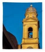 Beautiful Yellow Church Steeple Fleece Blanket