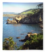 Beautifully Rugged Shoreline At Point Lobos Two Fleece Blanket