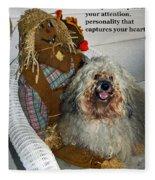 Beauty And Personality Fleece Blanket
