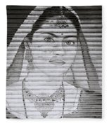 A Beautiful Woman Fleece Blanket