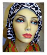 Beauty In Turban Fleece Blanket