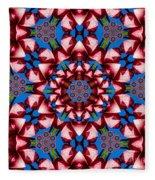 Beauty Of Aruba Kaleidoscope Fleece Blanket
