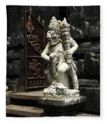 Beauty Of Bali Indonesia Statues 1 Fleece Blanket