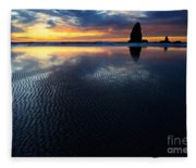 Beauty Of Oregon Cannon Beach 1 Fleece Blanket